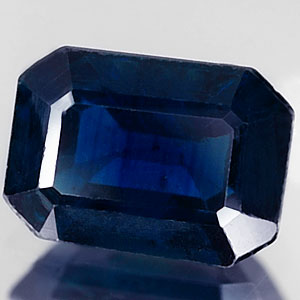 Genuine BLUE SAPPHIRE 1.36ct 7.2 x 5.2 x 3.5mm Octagon