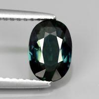 Genuine Green Sapphire 1.36ct 8x5.5x3.1mm SI1 Thailand