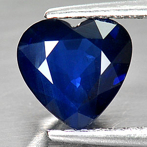 Genuine Blue Sapphire 1.52ct 7.0 x 7.0mm Heart SI1 Clarity