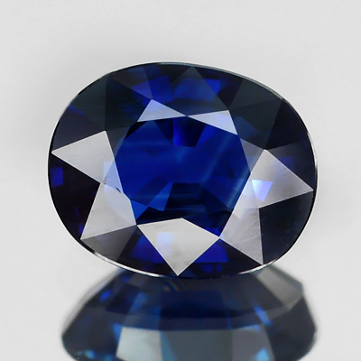Genuine 100% Natural BLUE SAPPHIRE 1.54ct 7.7 x 6.2mm Oval (Certified)
