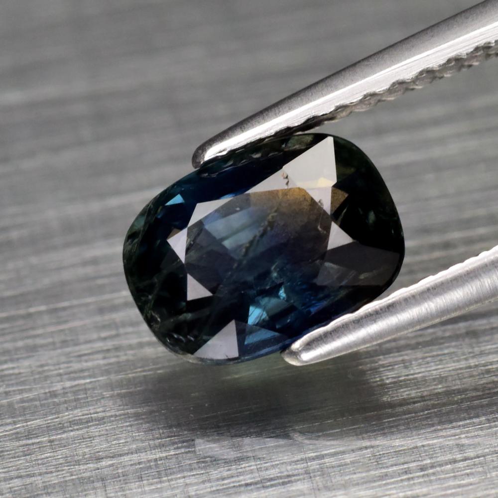 Genuine 100% Natural Blue Sapphire 1.56ct 7.6 x 5.7mm Cushion Cut SI1 Clarity
