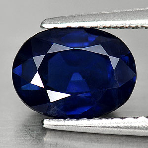 Genuine Blue Sapphire 1.61ct 8.0 x 6.0mm Oval VS1 Clarity
