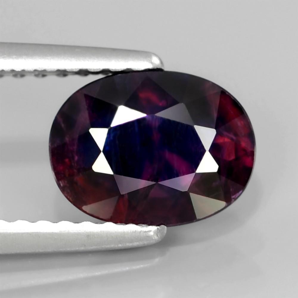 Genuine 100% Natural Purple Sapphire 1.61ct 8x6.2mm SI2 Tanzania