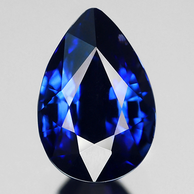 Genuine 100% Natural BLUE SAPPHIRE 1.70ct 8.0 x 5.4mm Pear (Certified)