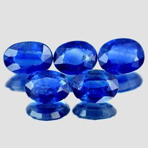 Genuine Blue Sapphire .42ct 5.7 x 3.9 x 2.3mm Thailand SI