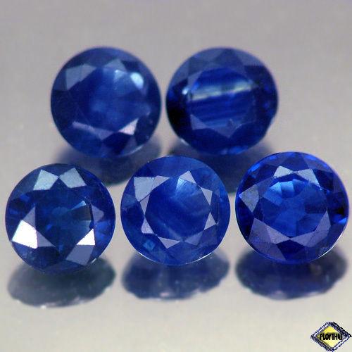 Genuine Blue Sapphire .52ct 4.8 x 4.8mm Round SI Clarity