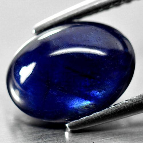 Genuine Cabochon Blue Sapphire 2.94ct 9.9x7.4x4.0mm Opaque Madagascar