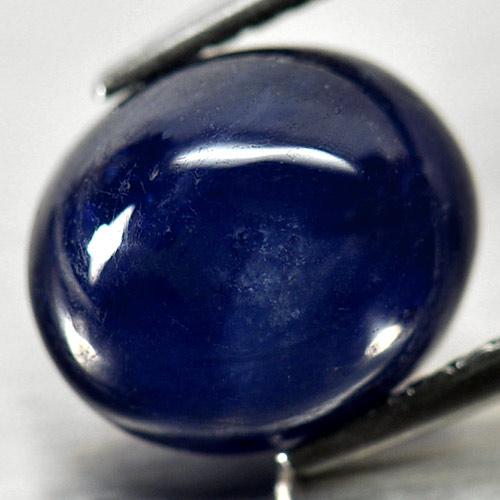 Genuine Cabochon Blue Sapphire 3.88ct 9.3x7.9x5.2mm Opaque Madagascar