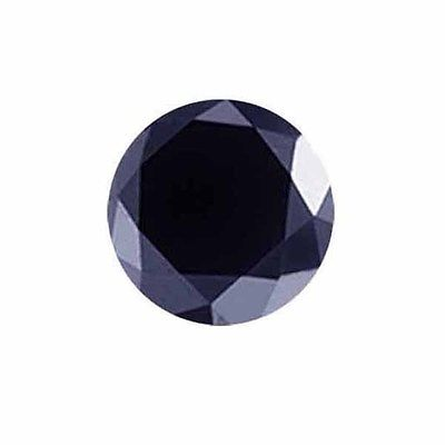 Genuine Midnight Blue Sapphire .38ct 5.0 x 5.0mm Round Opaque
