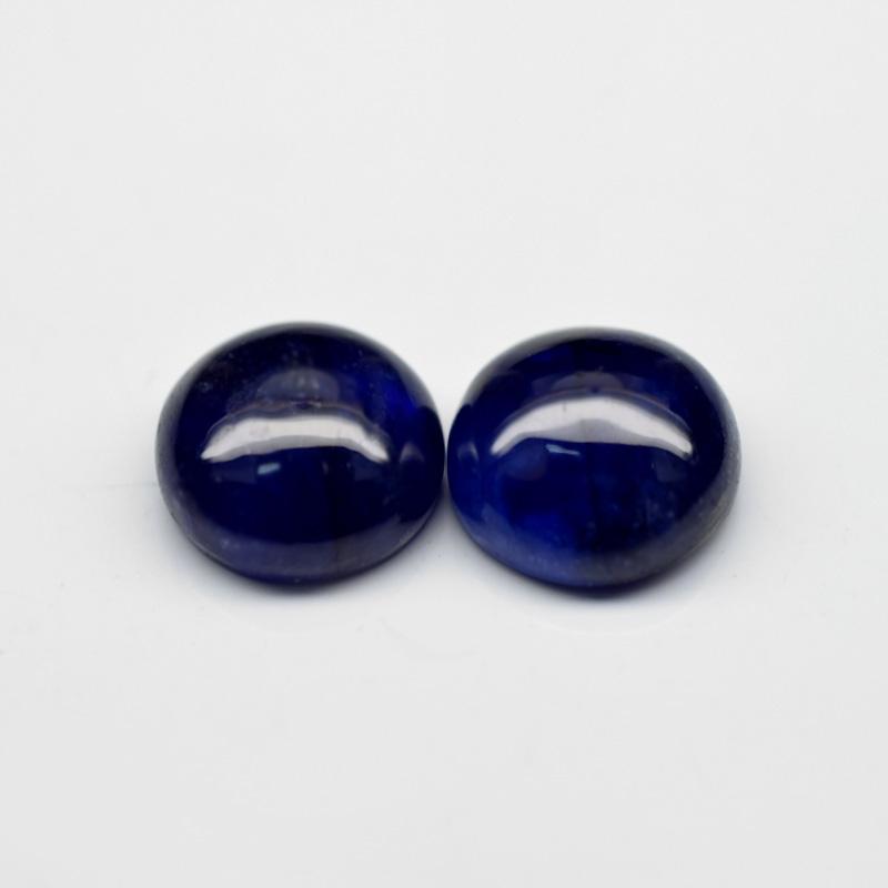 Genuine BLUE SAPPHIRES 6.26ct 8.0 x 8.0mm Round Pair
