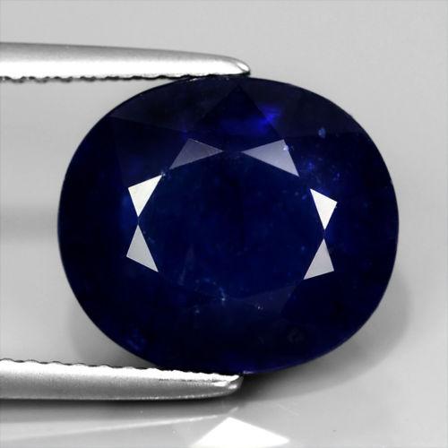 Genuine Royal Blue Sapphire 7.01ct 12x10.5x5.7mm SI1 Africa