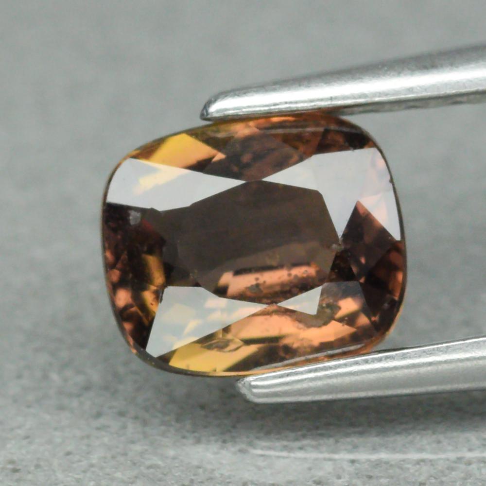 Genuine 100% Natural Brown Sapphire 0.72ct 5.6 x 4.8mm Cushion Cut SI1 Clarity
