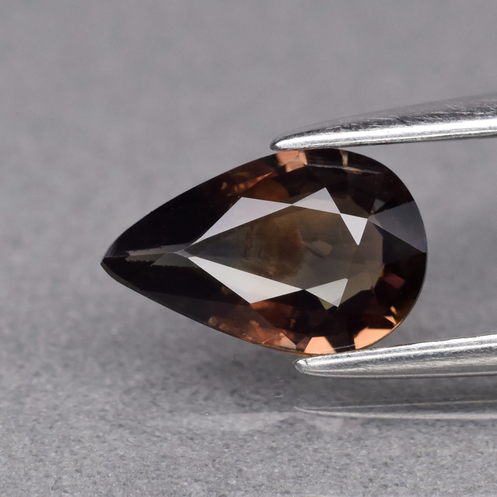 Genuine 100% Natural Brown Sapphire 1.02ct 8.5 x 5.4mm Pear SI1 Clarity