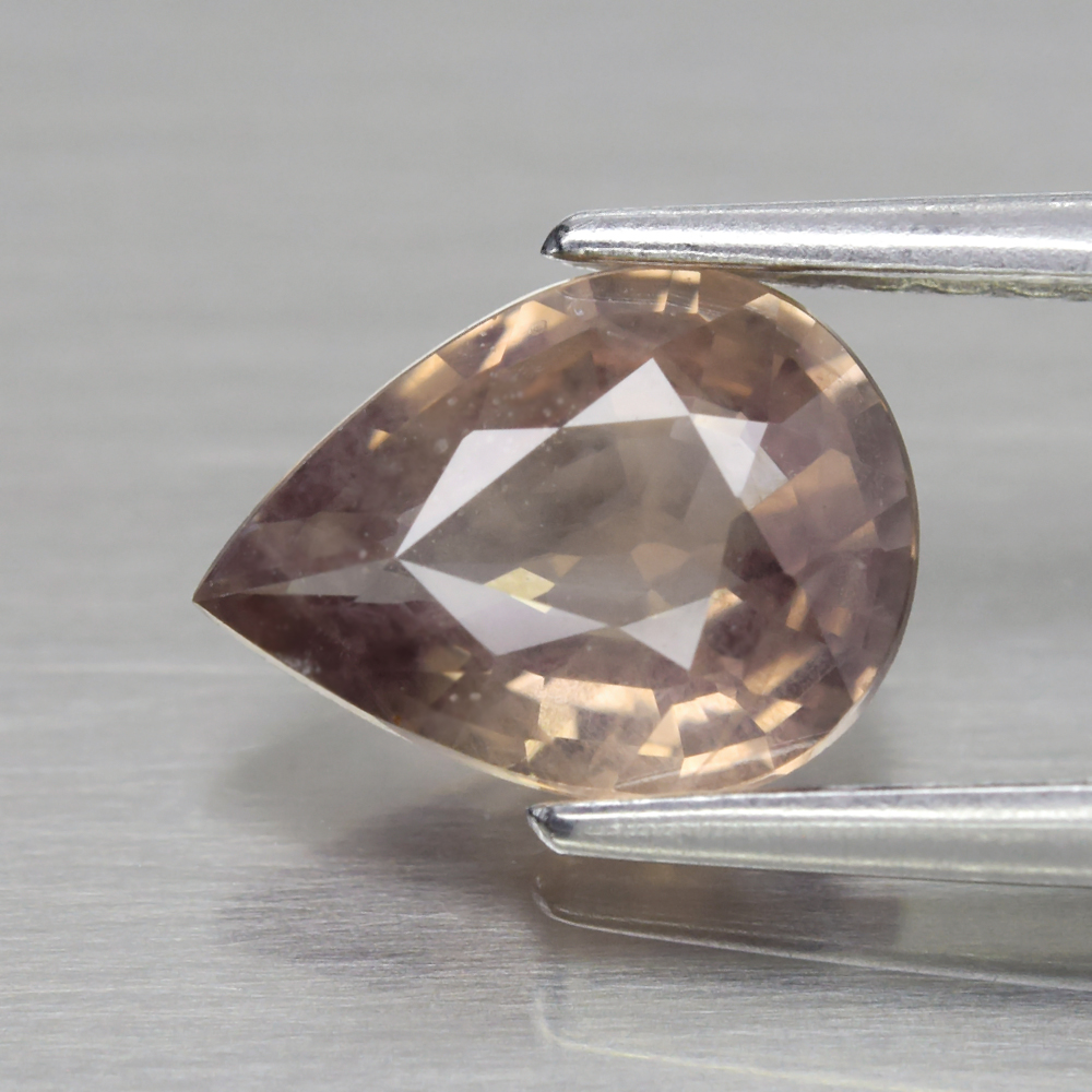 Genuine 100% Natural Brown Sapphire 1.03ct 7.7 x 5.8mm Pear SI1 Clarity
