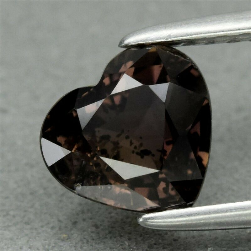 Genuine 100% Natural Brown Sapphire 1.28ct 6.6 x 6.0mm Heart SI1 Clarity