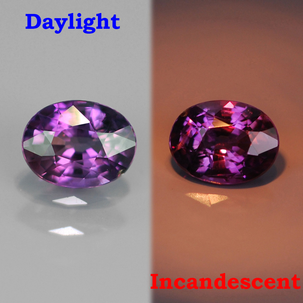Genuine 100% Natural Color Change Sapphire .43ct 5.0x4.0x2.6 VS2 Madagascar