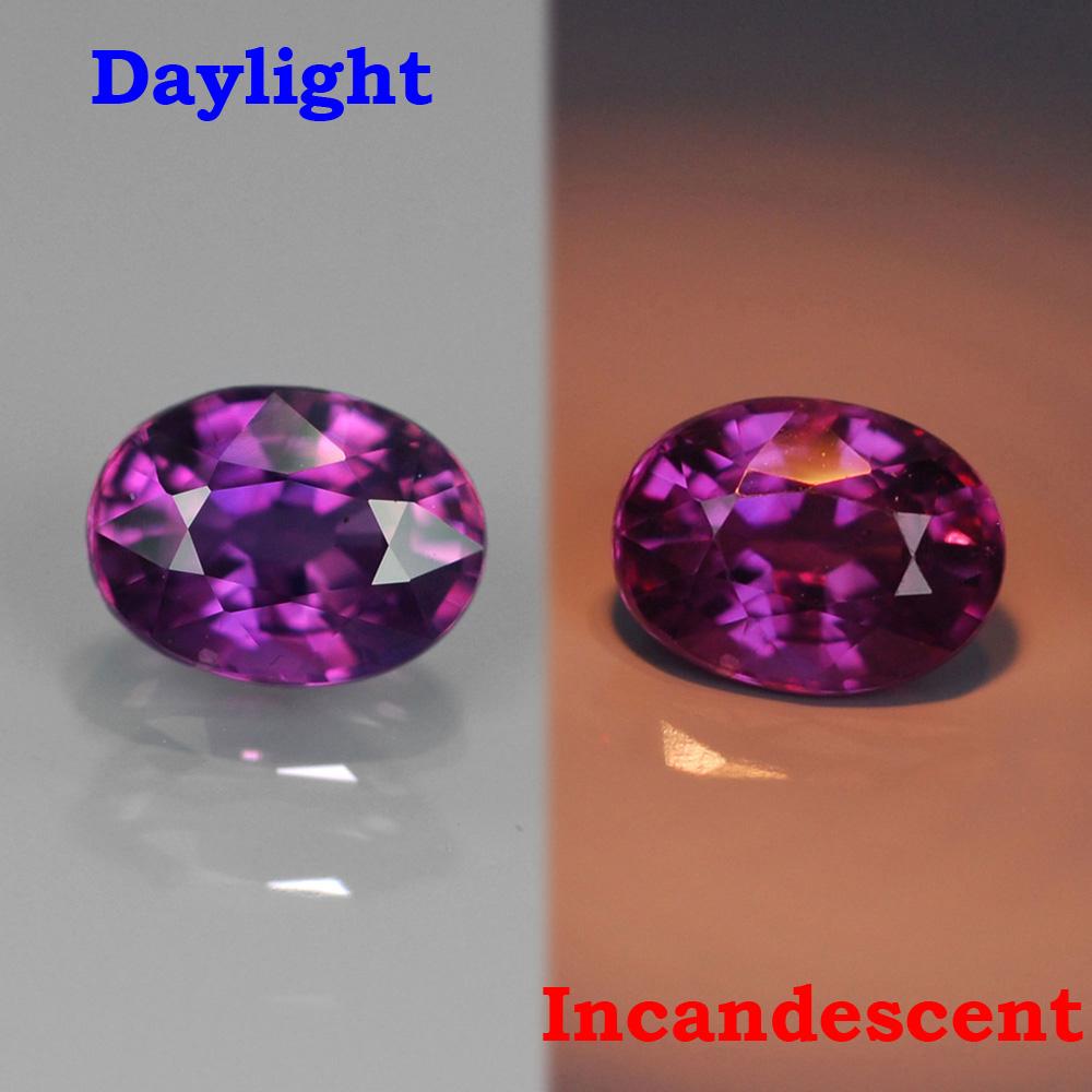 Genuine 100% Natural Color Change Sapphire .45ct 5.0x3.7x2.6 SI1 Madagascar