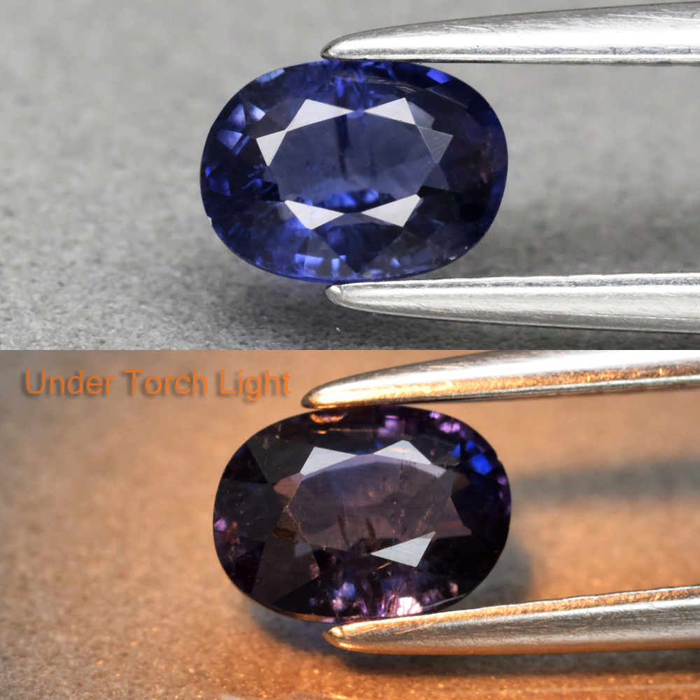 Genuine 100% Natural Color Change Sapphire .74ct 6.0 x 4.4mm Oval SI1 Clarity