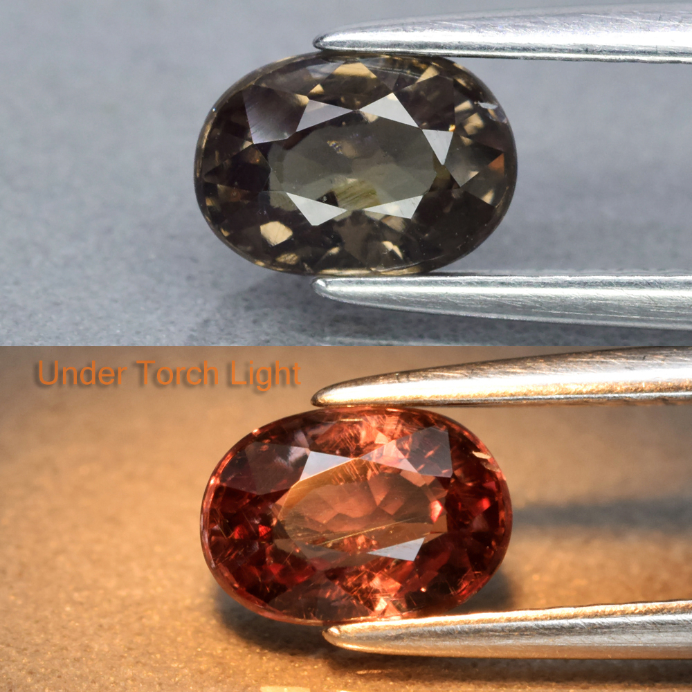 Genuine 100% Natural Color Change Garnet 1.02ct 6.7 x 4.8mm Oval SI1 Clarity