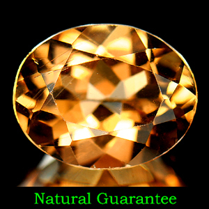 Genuine 100% Natural Champagne Topaz 3.22ct 10.1 x 8.1 x 5.6mm Brazil VVS