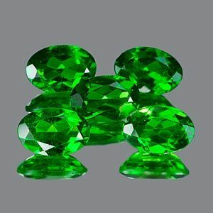 Genuine 100% Natural Chrome Diopside .49ct 6.1 x 4.1 x 2.8mm Russia VVS