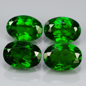 Genuine 100% Natural Chrome Diopside 0.87ct 7.0x5.0x3.2 VS1 Russia