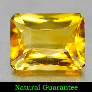 Genuine 100% Natural Citrine 1.38ct 8.0 x 6.2mm Octagon VVS Clarity