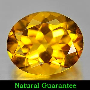 Genuine 100% Natural Citrine 4.15ct 12.1 x 10.0mm Oval VVS Clarity