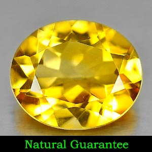 Genuine 100% Natural Citrine 4.21ct 12.3 x 10.3mm Oval VVS Clarity
