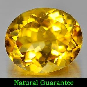 Genuine 100% Natural Citrine 4.28ct 12.0 x 10.0mm Oval VS1 Clarity