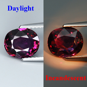 Genuine 100% Natural Color Change Sapphire 1.66ct 8.1 x 6.8mm SI