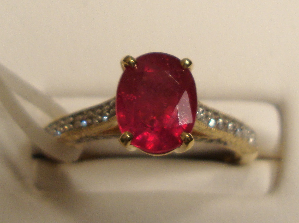 Ruby Gold Ring 1.15ct 18K Yellow Gold Size 7.0 (Certified)