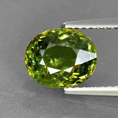 Genuine 100% Natural Demantoid Garnet 2.31ct 8.7 x 7.1mm Oval SI1 Clarity