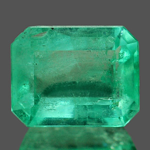 Genuine 100% Natural Colombian EMERALD 1.02ct 7.2 x 5.6 x 3.4mm Octagon