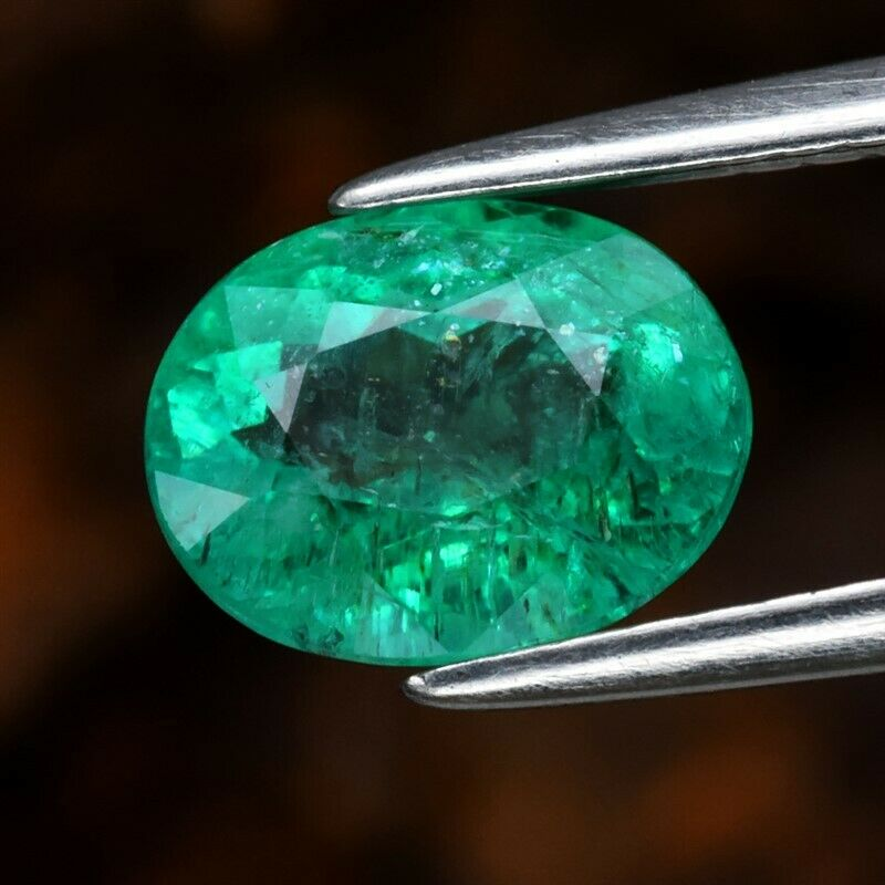 Genuine 100% Natural Emerald 1.41ct 7.8 x 6.0mm Oval SI1 Clarity