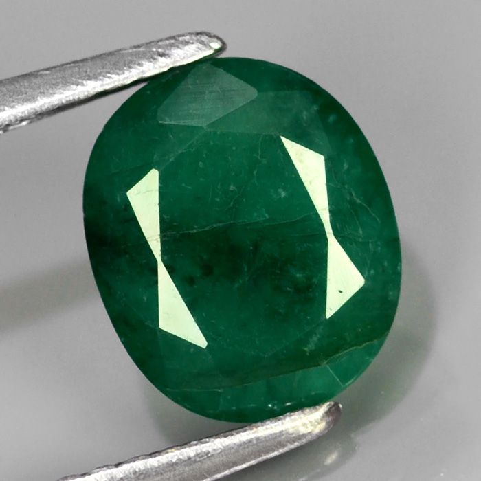 Genuine 100% Natural Colombian Emerald 1.53ct 8.5 x 7.0mm Oval I1 Clarity
