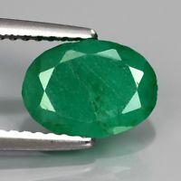 Genuine 100% Natural Emerald 1.94ct 9x6.5x4.5mm SI2 Zambia Oiled