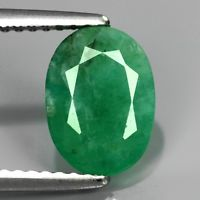 Genuine 100% Natural Emerald 2.41ct 9.5x7.5x4.2mm SI2 Zambia Oiled