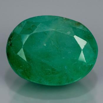 Genuine 100% Natural Emerald 2.47ct 9.3x7.5x5.0 I3 Pakistan (oiled)