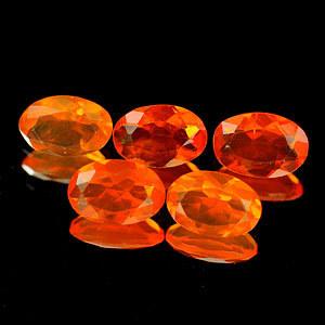 Genuine 100% Natural Fire Opal .28ct 6.1 x 4.2 x 2.8mm Mexico VVS