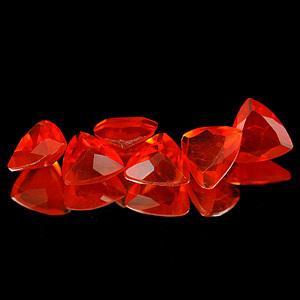 Genuine 100% Natural Fire Opal 0.24ct 5.1 x 5.0 x 2.9mm Mexico VVS