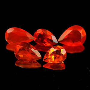 Genuine 100% Natural Fire Opal .30ct 6.8 x 4.8 x 2.9mm Mexico VVS
