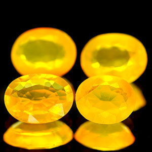 Genuine 100% Natural Yellow Fire Opal .51ct 6.7 x 5.2mm VVS Clarity
