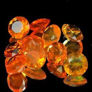 Genuine 100% Natural Fire Opal 0.29ct 4.6 x 4.6 x 2.7mm Mexico VVS