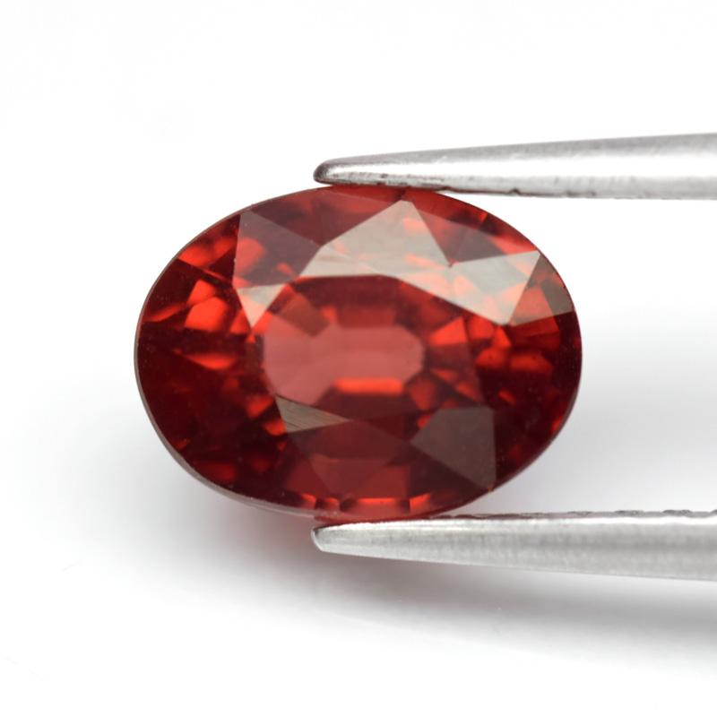 Genuine 100% Natural Rhodolite Garnet 1.80ct 7.7 x 5.7mm Oval SI1 Clarity