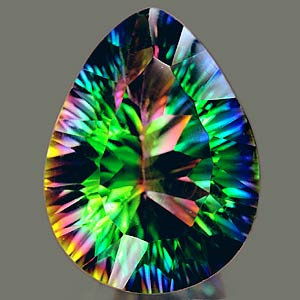 Genuine MYSTIC GREEN QUARTZ 7.90ct 16.1 x 12.1 x 8.1mm Pear