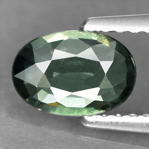 Genuine Green Sapphire .80ct 7.3 x 5.0mm SI