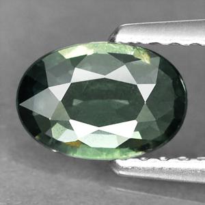 Genuine Green Sapphire .80ct 7.3 x 5.0mm SI