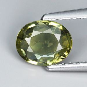 Genuine Green Sapphire .82ct 6.9 x 5.6mm SI