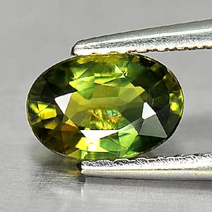 Genuine Green Sapphire .84ct 7.0 x 4.8mm Oval SI1 Clarity